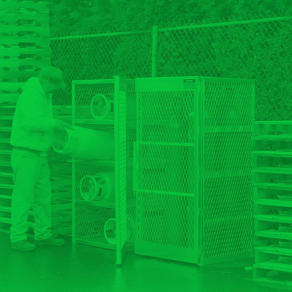 Vertical LPG Cylinder Lockers