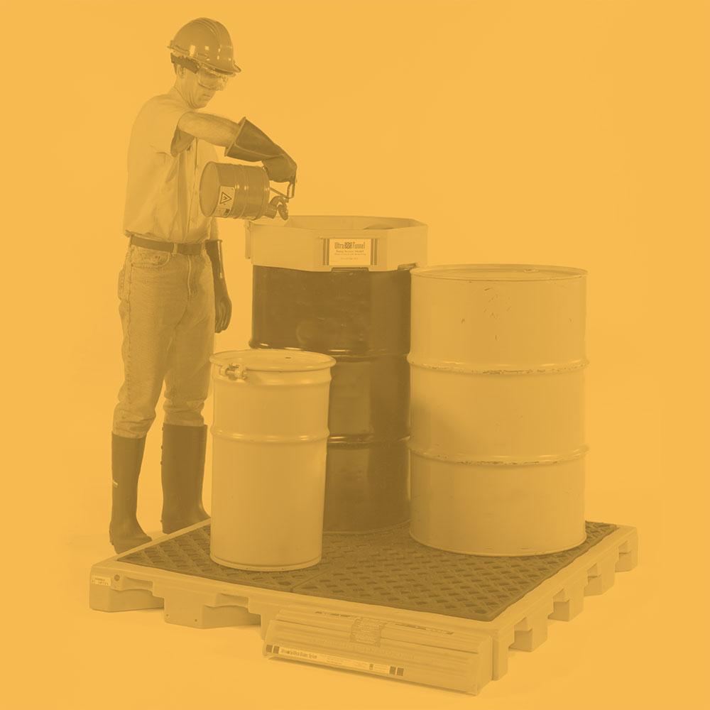 Fluorinated Spill Decks