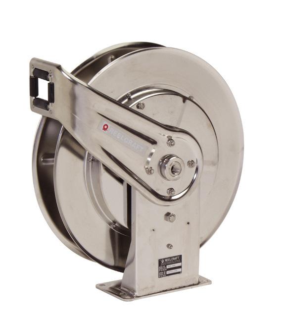 7800 Spring Retractable Stainless Steel Hose Reel