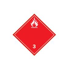 Clear language dangerous goods shipping labels Class 3 () Flammable Liquid