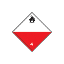Dangerous Goods Labels Class 4 () Spontaneously Combustible