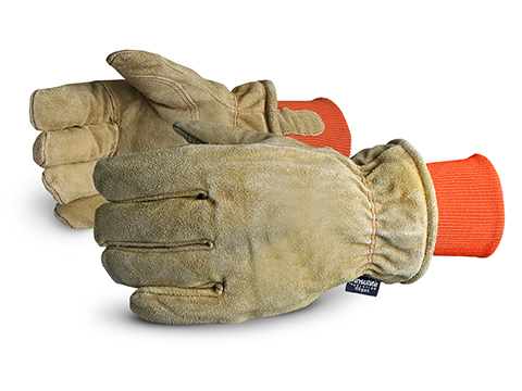 SnowForce™ Brown Split Leather Thinsulate™ Lined Freezer Glove