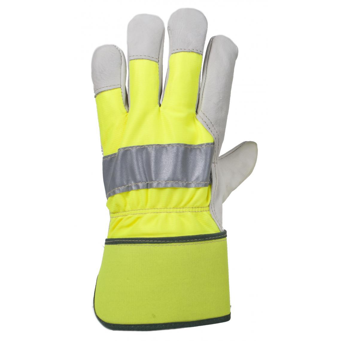 Hi-Vis Cowhide Leather Fitters Glove