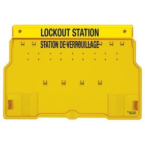 10-Lock Padlock Station, English/French, Unfilled