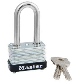 1-1/2in (38mm) Wide Laminated Steel Warded Padlock with 1-1/2in (38mm) Shackle, Keyed Alike
