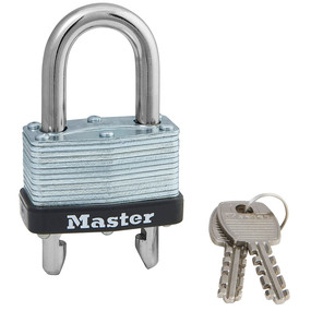 1-3/4in (44mm) Wide Laminated Steel Warded Padlock with Adjustable Shackle