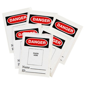 Photo Identification Labels for Aluminum Safety Padlocks