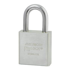 1-3/4in (44mm) Solid Stainless Steel Pin Tumbler Padlock