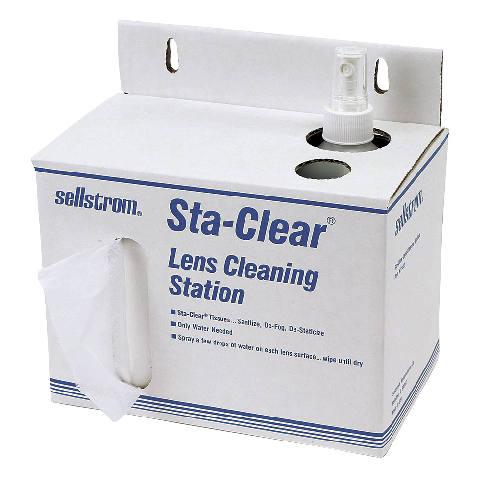 Cardboard Lens Cleaning Station