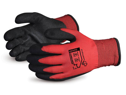 Dexterity® Winter-Lined Nylon Gloves with PVC Palm