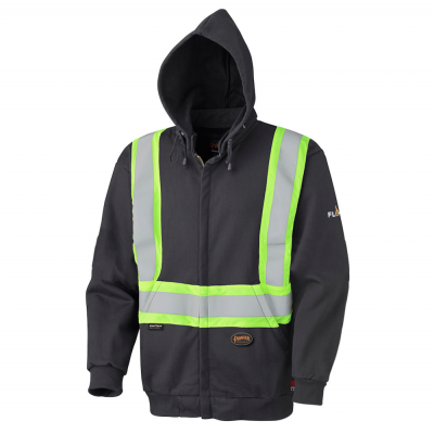 Flame Resistant Zip Style Heavyweight Cotton Safety Hoodie