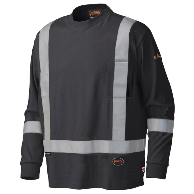 Flame Resistant Long-Sleeved Cotton Safety Shirt