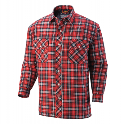 Comfortable Quilted Flannel Work Shirt