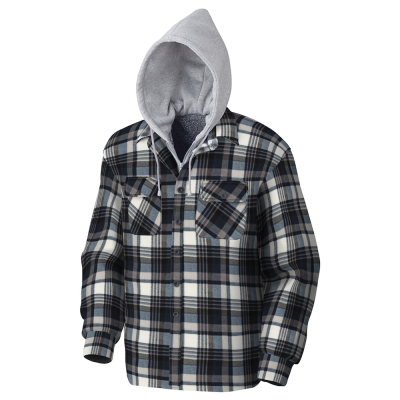 Quilted Hooded Polar Fleece Shirt