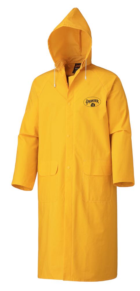 Flame Resistant PVC Long Rain Coat