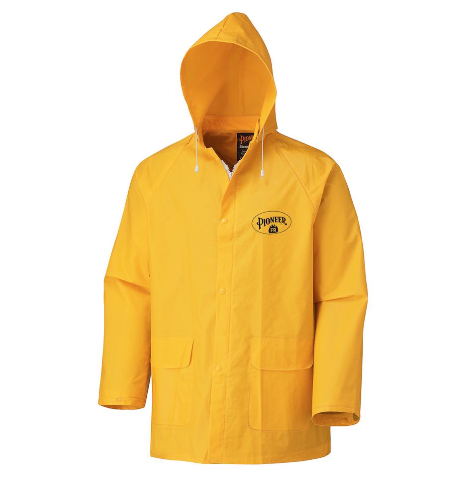 Flame Resistant PVC Rain Jacket
