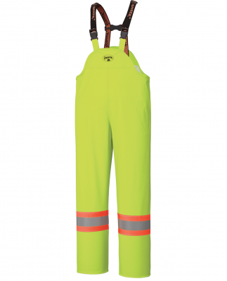 Flame Resistant Pu Stretch Hi-Viz Waterproof Bib Pant
