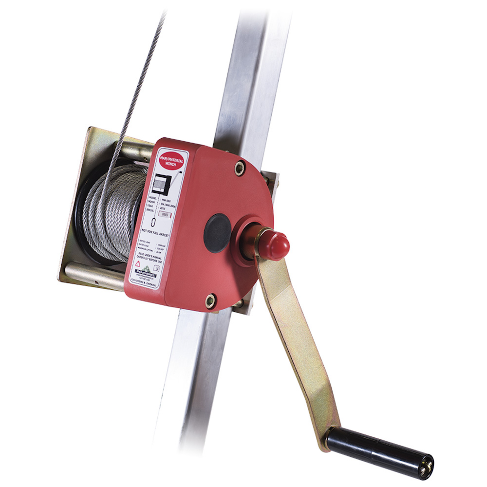 65' (20 M) Man Winch With 3/16'' (5 mm) Cable And Swivel Hook
