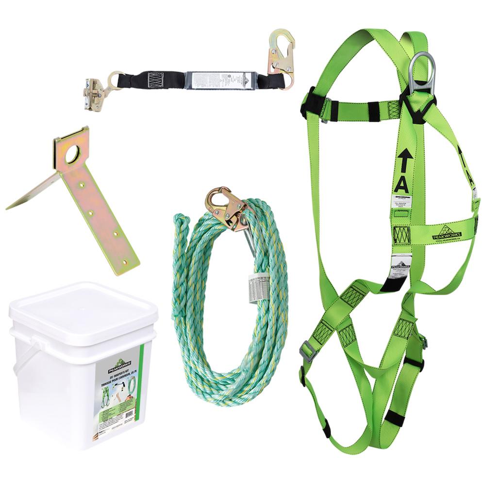 Compliance Roofer's Kit - 2' (0.6 M) Sp Lanyard - Integral Adp Rope Grab