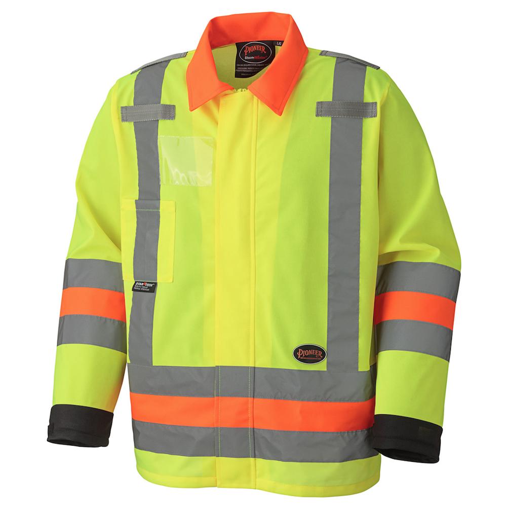 Hi-Viz Breathable Traffic Control Safety Jacket