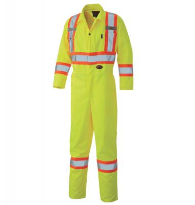 Hi-Viz Safety Poly/Cotton Coverall