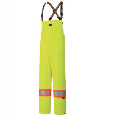 PU Stretch Hi-Viz Waterproof Safety Bib Pant