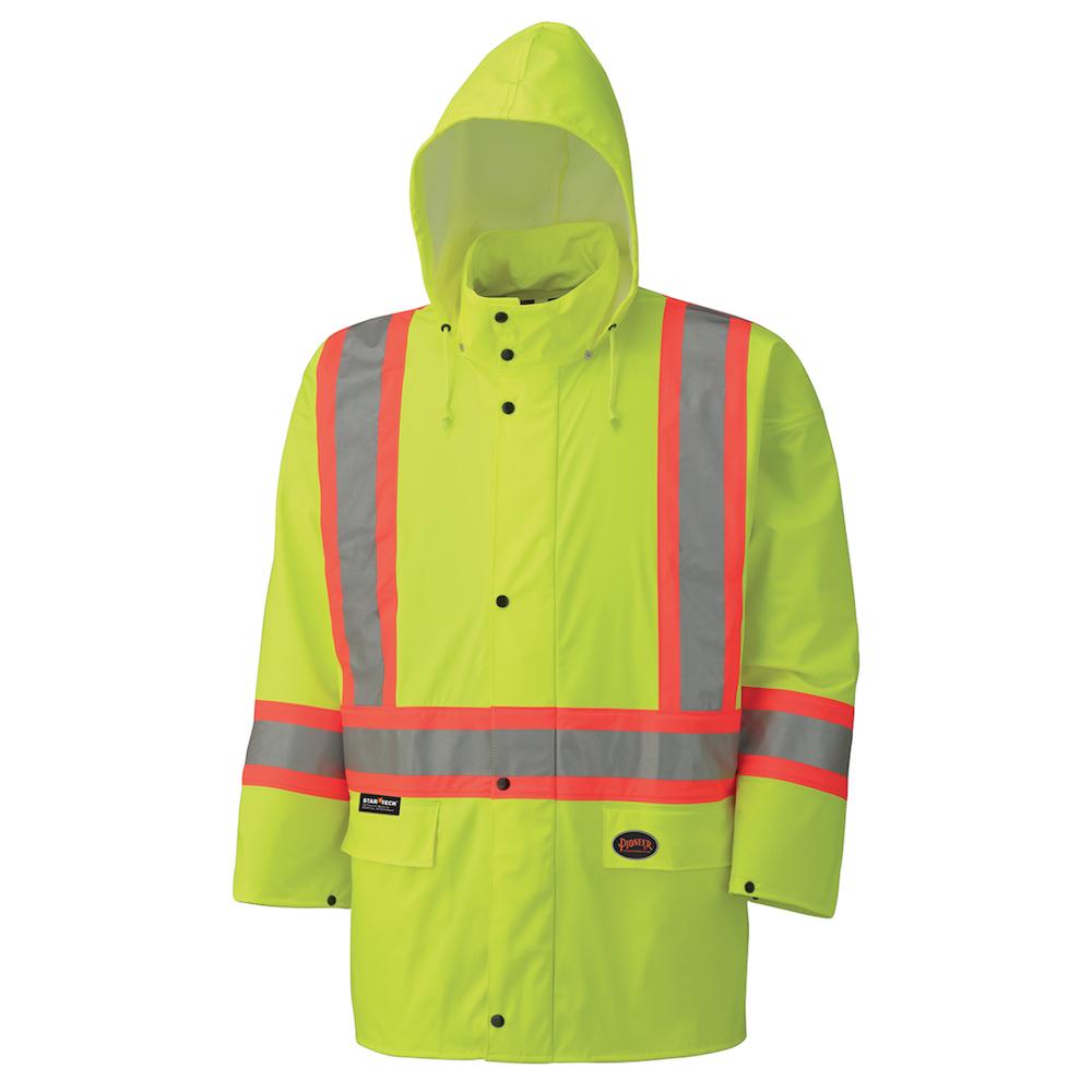 PU Stretch Hi-Viz Waterproof Safety Jacket