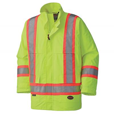 450D Hi-Viz Nailhead Polyester Waterproof Jacket