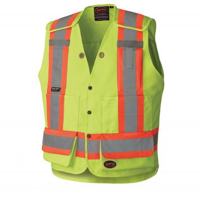 Hi-Viz Drop Shoulder Tear-Away Surveyor's Safety Vest