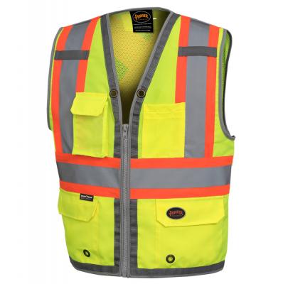 Mesh Back Zip Front Surveyor's Vest