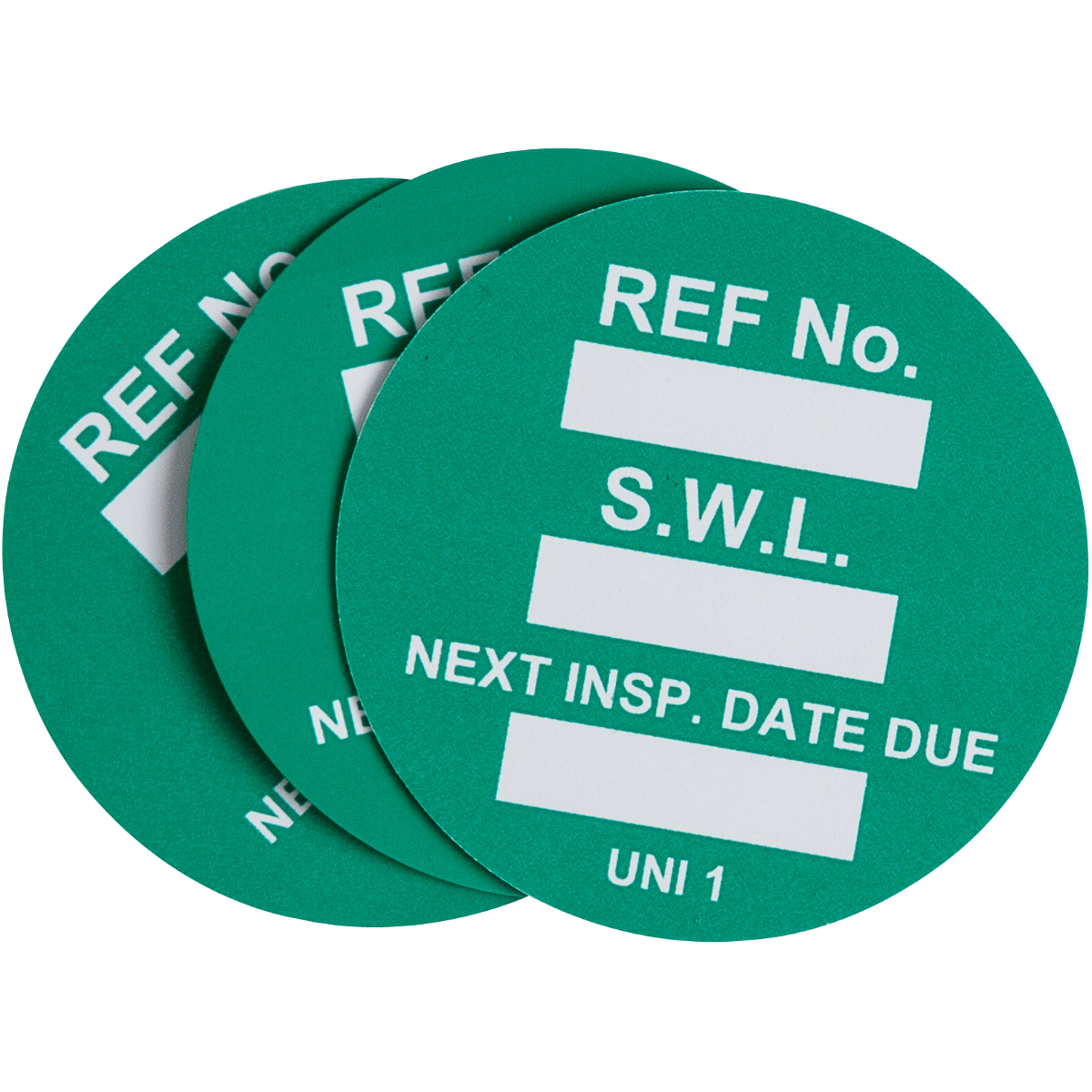 Safe Work Load Tag Inserts