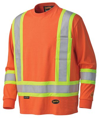 Flame Resistant Long Sleeved Cotton Safety Shirt