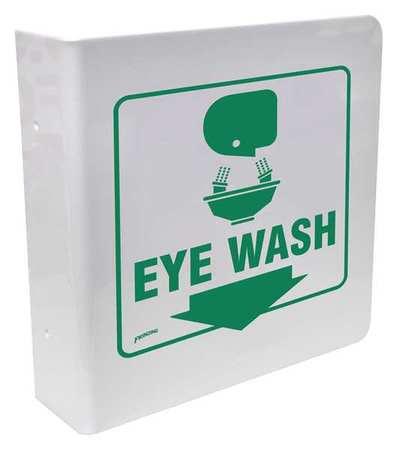 Eye Wash Sign, 8 x 8In, GRN/WHT, Eye Wash