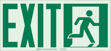 """7"""" x 14"""" Fire Exit Sign"""