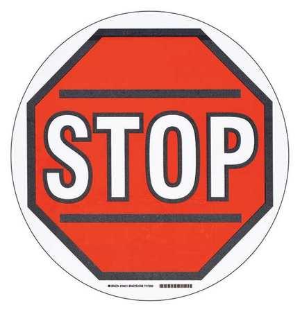 Stop Floor Marking Sign