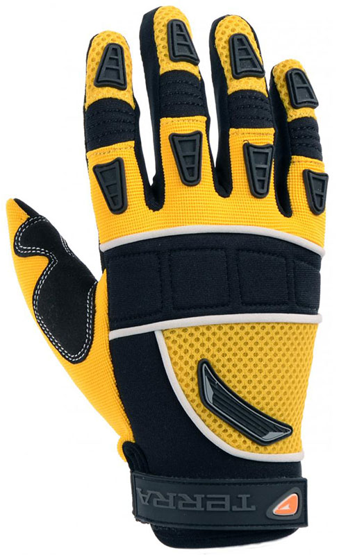 Synthetic Leather Mechanics Gloves