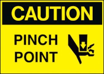 Caution - Pinch Point