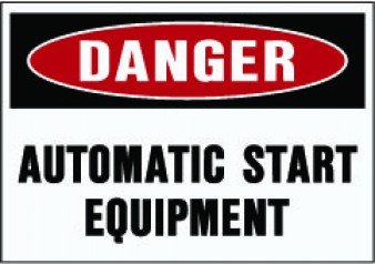 Danger - Automatic Start Equipment