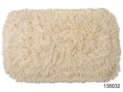 Tie on style cotton mop, cut end