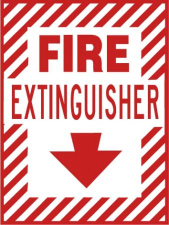 Fire Extinguisher with Arrow Down
