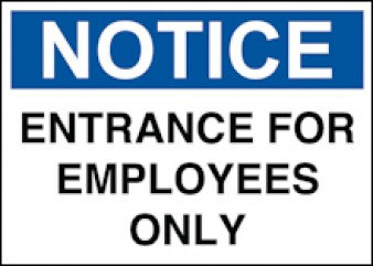 Notice Entry For Employees Only