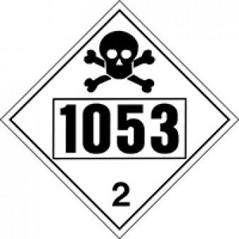 Toxic Gases - Hydrogen Sulphide Class 2 UN#1053
