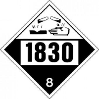 Corrosive - Sulphuric Acid Class 8 UN#1830
