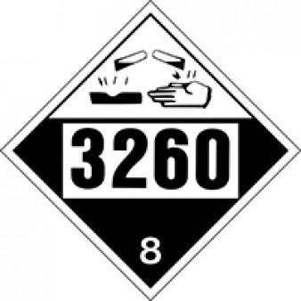 Corrosive Solid Class 8 UN#3260