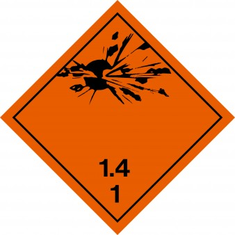 Explosives 1.4 - Minor Explosion Hazard Class 1 1.4