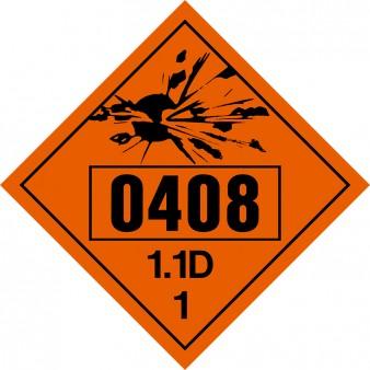 Class 1 - Explosives 1.1D UN#0408 Fuzes, Detonating
