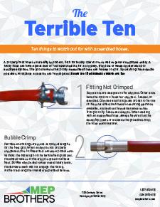 Terrible Ten - Ways not to make hose