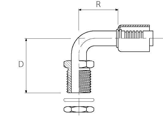 Male / Bulkhead / 90° Elbow O-Ring Insert