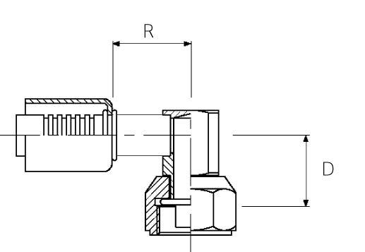 Female / 90° Block Elbow / Swivel O-Ring Tube