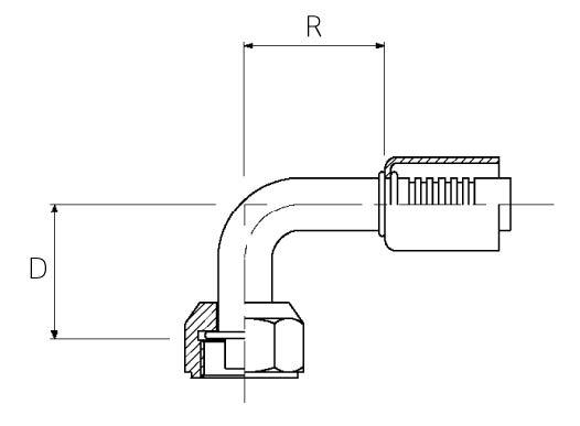 Female / 90° Elbow / Swivel / R12 Valve O-Ring Tube